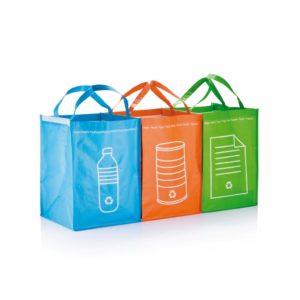 Set 3 tašek na recyklovaný odpad