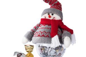 Vánoční krabička Fluti ve tvaru sněhuláka