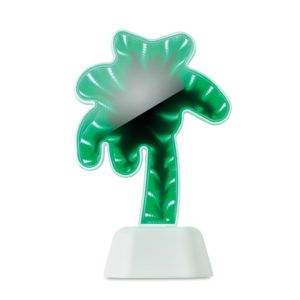 Lampa ve tvaru palmy s efektem nekonečného zrcadla