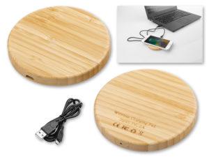 Dřevěná bezdrátová nabíječka