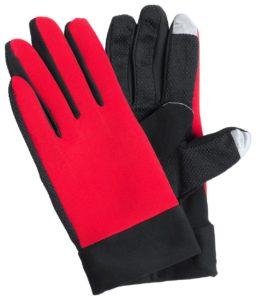 Dotykové sportovní rukavice se speciálním povrchem na 2 prstech
