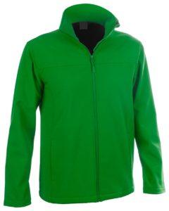 softshellová bunda na zip se 2 předními kapsami