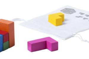 Dřevěná, barevná skládací puzzle kostka