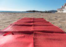 plážová matrace s uchy