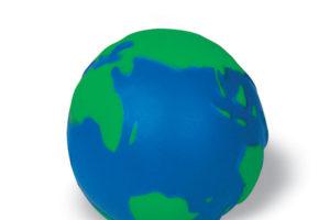Antistresový míč ve tvaru zeměkoule