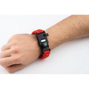 Multifunkční bezpečnostní náramek s rychloupínací přezkou