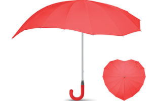 Deštník s manuálním otvíráním ve tvaru srdce