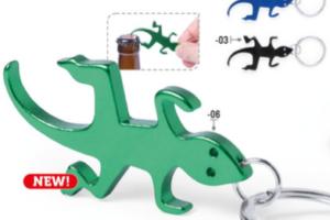 Přívěšek ve tvaru ještěrky s otvírákem