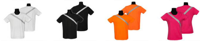 Reflexní sportovní tričko s krátkým rukávem