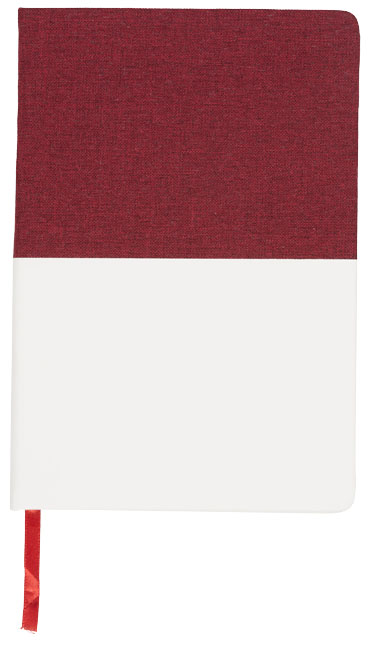 dvoubarevný plátěný zápisník A5