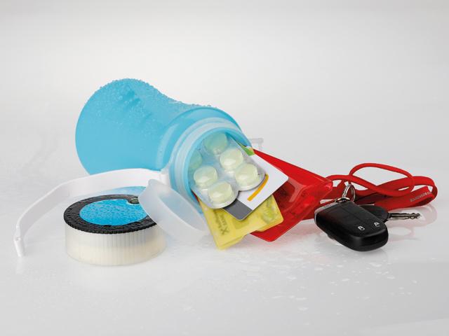 vodotěsná nádoba s úložným prostorem a 3 LED svítilnou
