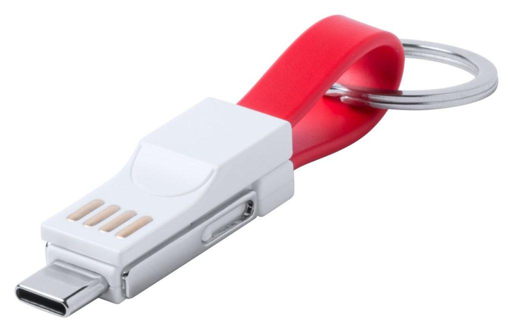 přívěšek na klíče s USB nabíjecím kabelem