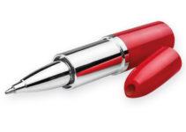 plastové kuličkové pero ve tvaru rtěnky