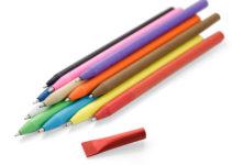 reklamní papírové kuličkové pero s uzávěrem