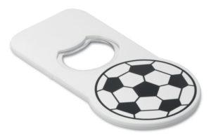 Otvírák na láhve s fotbalovým potiskem na vrchu a s magnetem