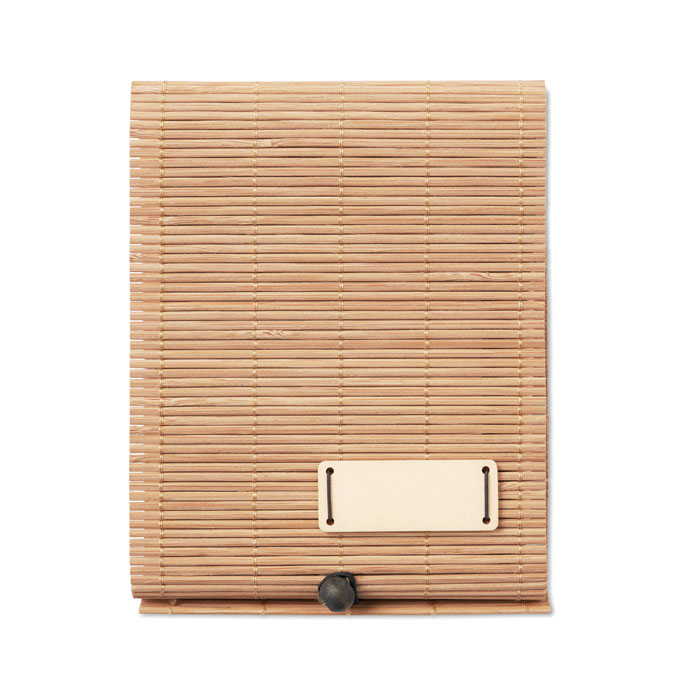 Bambusový blok a bambusové pero