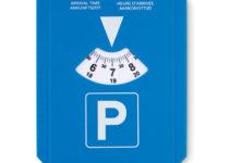 Parkovací karta se škrabkou na sníh