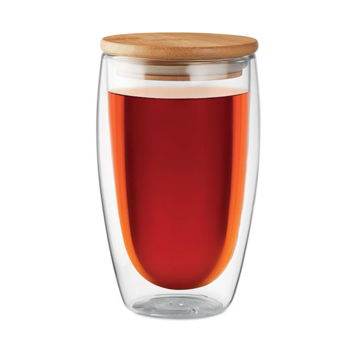 Dvoustěnná sklenice z borokřemičitého skla