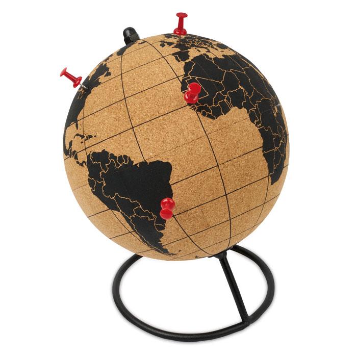 Globus z korku se stojánkem