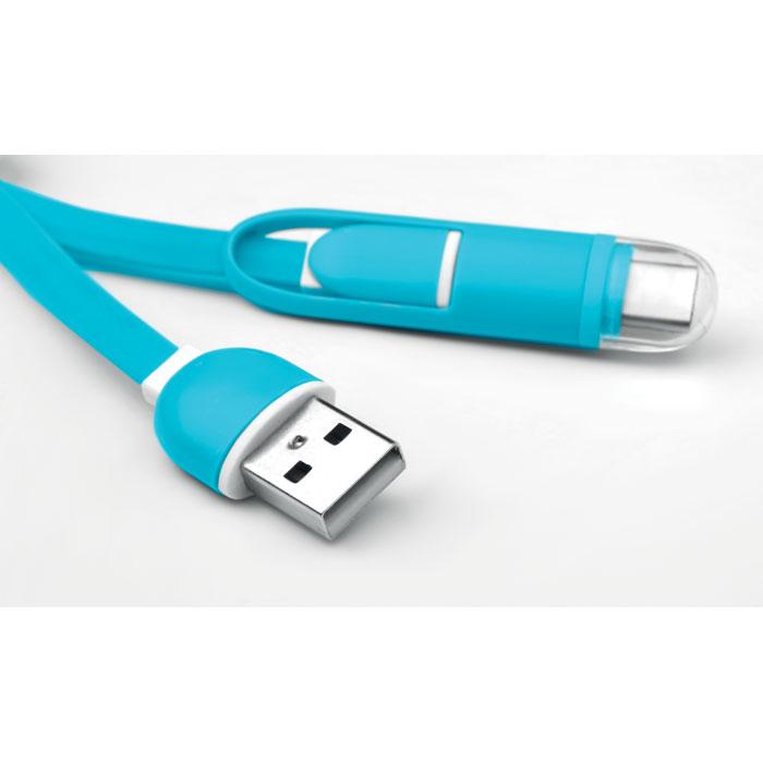 Klíčenka s USB typu C a mikro USB konektorem