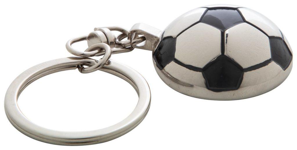 Kovový přívěšek na klíče ve tvaru poloviny fotbalového míče