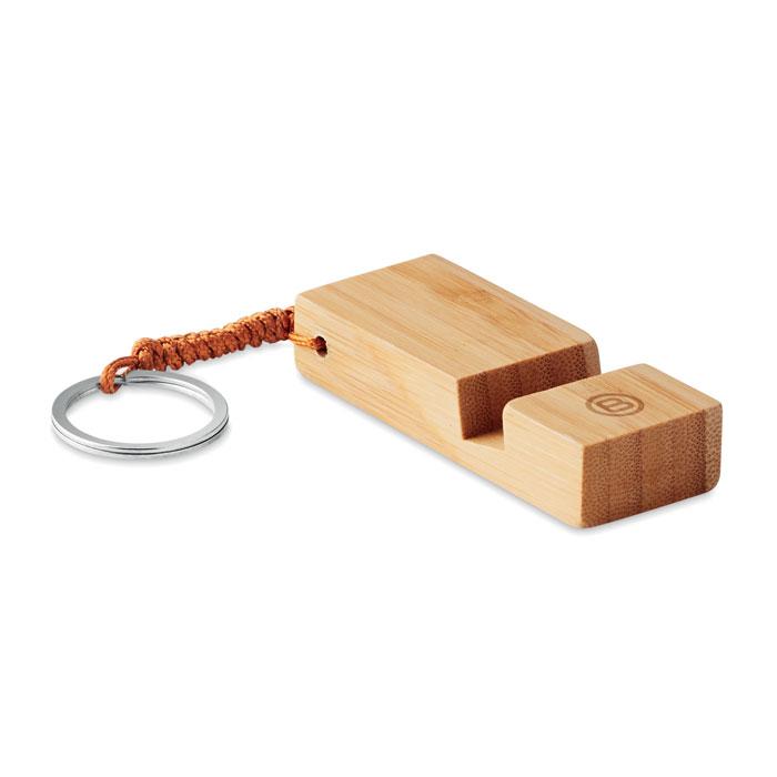Přívěsek a stojánek na smartphone z bambusu