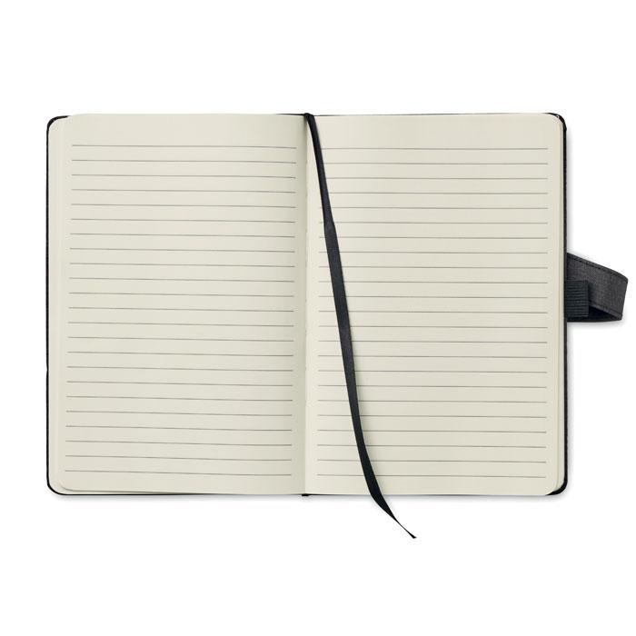 A5 zápisník, obálka z plátna se vzhledem džínoviny