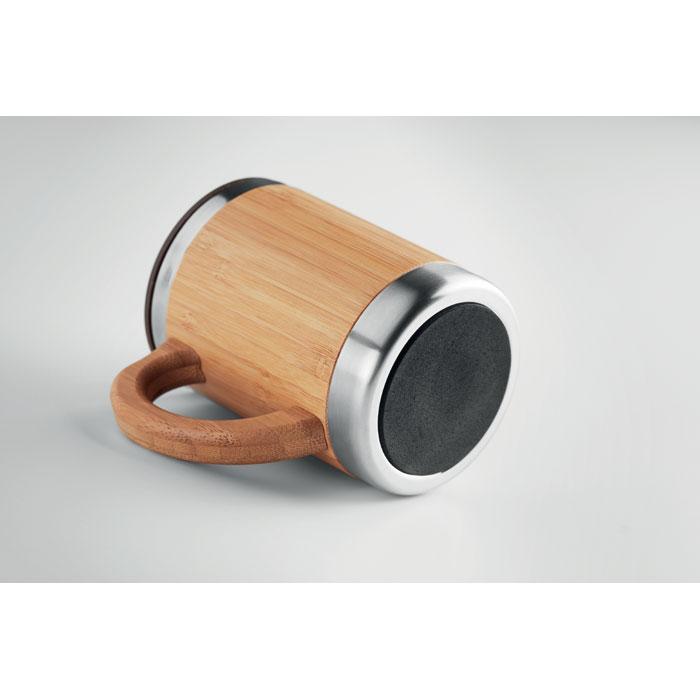Dvoustěnný hrnek v krytu z bambusu