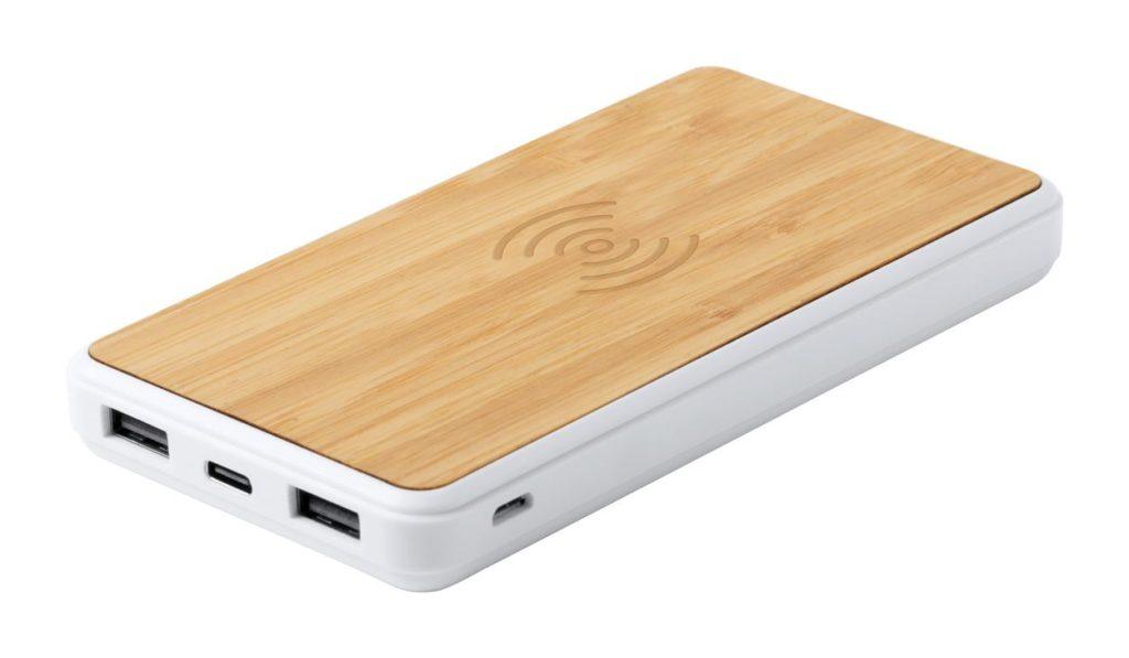 USB power banka 8000 mAh a vestavěnou bezdrátovou nabíječkou