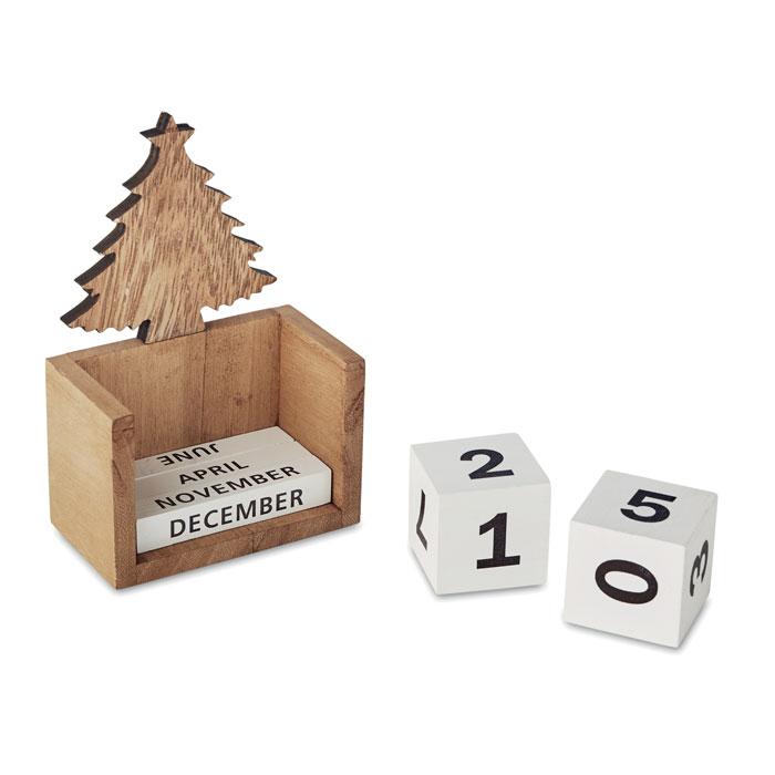 Vánoční stolní věčný kalendář