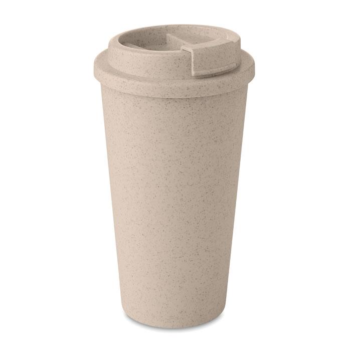Dvoustěnný pohárek z bambusu s víčkem