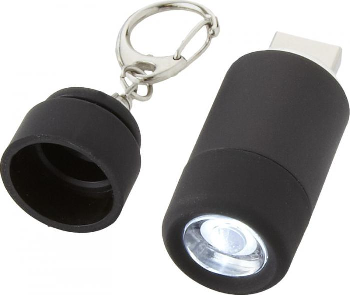 Klíčenková LED svítilna s dobíjením přes USB