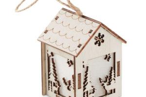 Vánoční dekorační domeček se světlem