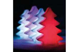 Reklamní vánoční osvětlení v tvaru stromu nebo hvězdy