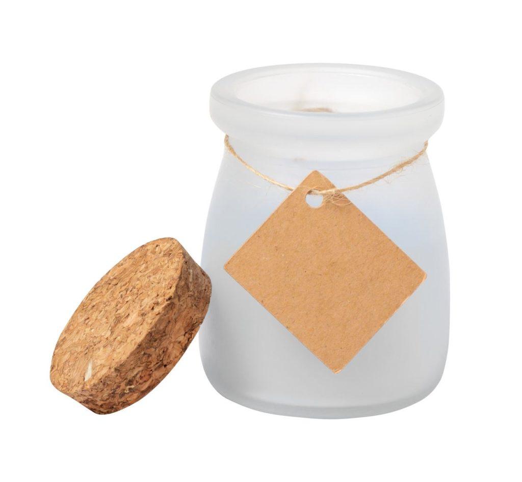 Vonná svíčka ve skle s korkovým víčkem