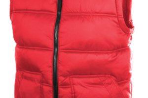 Zateplená vesta na zip se dvěma kapsami