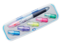 3-barevné kuličkové pero se 6ti zvýrazňovači
