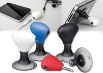 Stojánek na mobil se dvěma výstupy pro sluchátka
