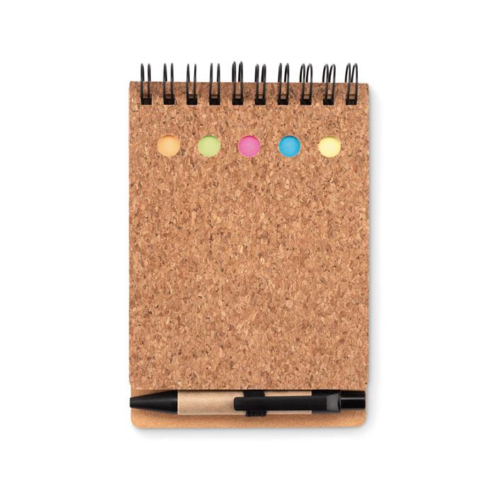 Kroužkový zápisník s obalem z korku