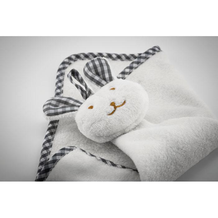 Plyšový dětský ručník s králíčkem