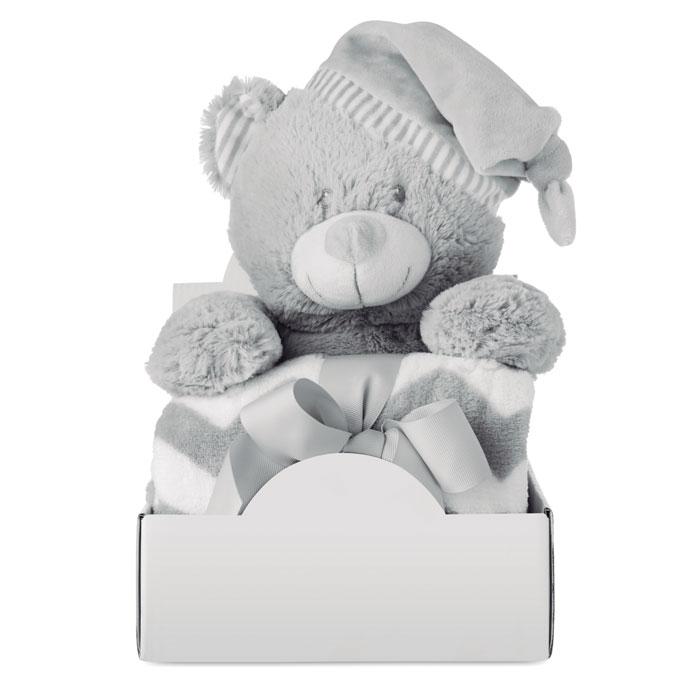 Velký plyšový medvídek s fleecovou přikrývkou