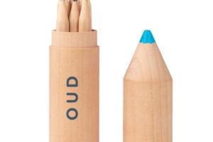 Dřevěné pastelky 6 kusů v krabičce ve tvaru pastelky