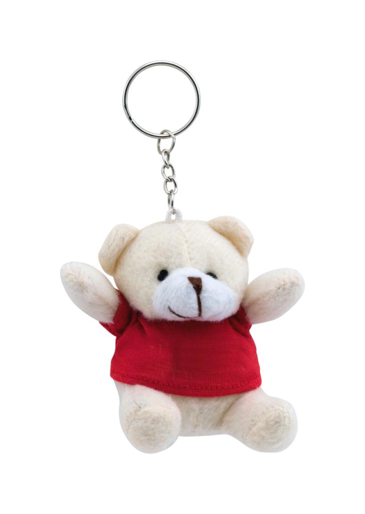 Přívěšek na klíče s medvídkem s možností potisku na tričko