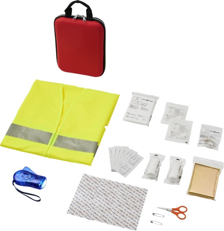 Praktická 46dílná lékárnička a bezpečnostní vesta