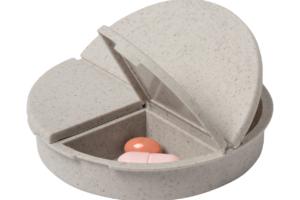 Box na pilulky se 3 přihrádkami z bambusu