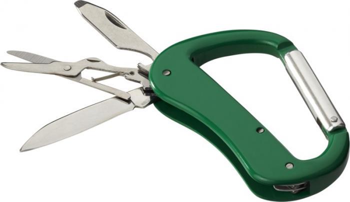 Nůž s karabinou a 5 funkcemi