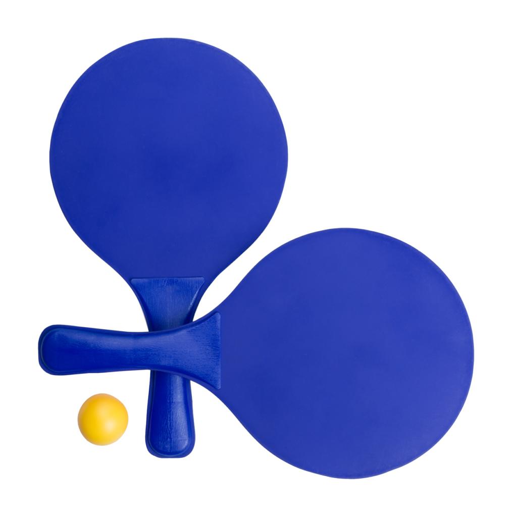 Plážový tenis s barevnými raketami a jedním míčkem