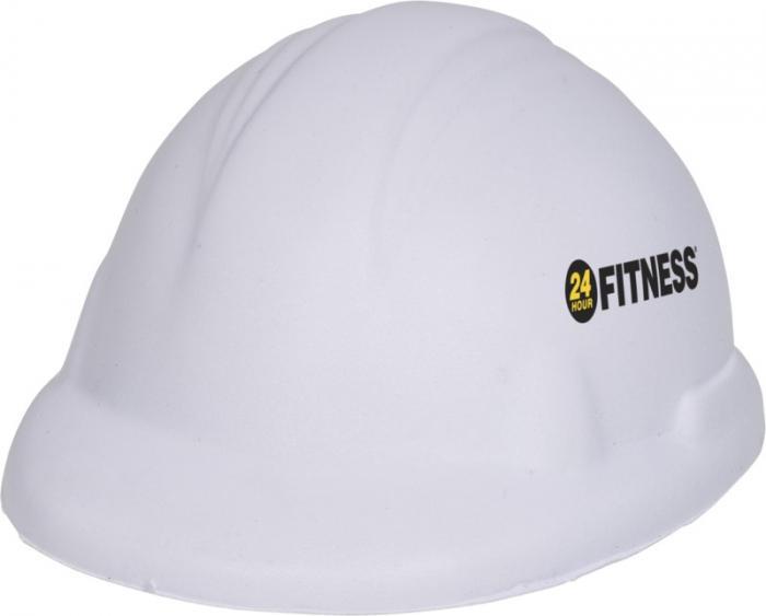 Antistresová pomůcka ve tvaru přilby stavebního dělníka