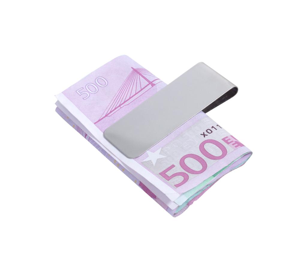 Klip na peníze s chromovým povrchem
