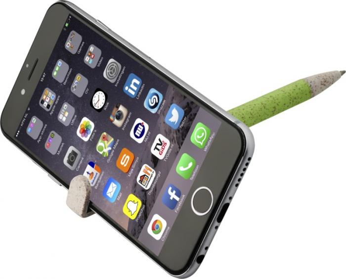 Kuličkové pero s držákem na telefon